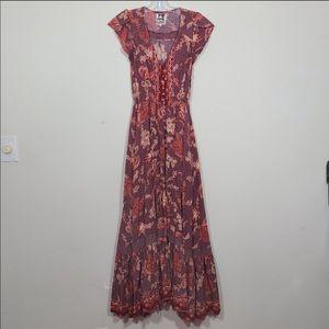Jaase Boho Floral Maxi Dress